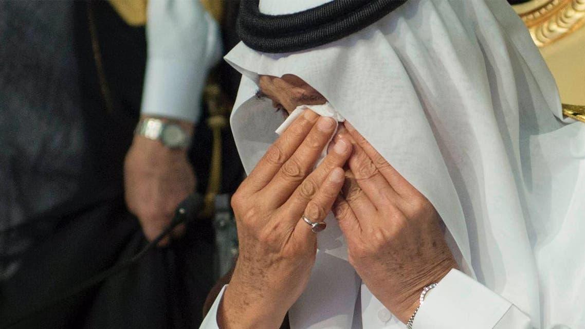الملك سلمان يبكي في تخرج ابنه راكان