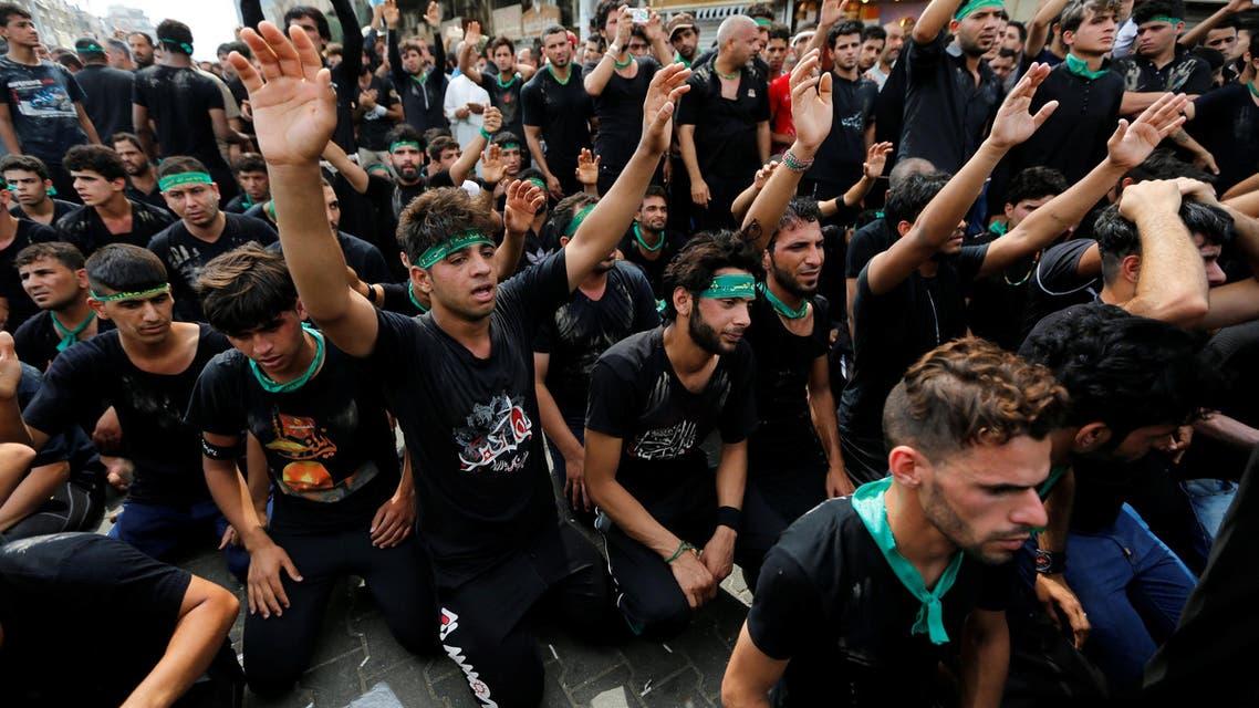 Shiite pilgrims gather at Imam Moussa al-Kadhim shrine