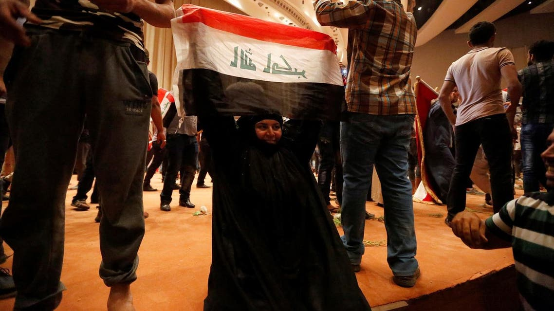 Angry protesters broke into the area after lawmakers again failed to approve new ministers proposed by Iraqi PM Haider al-Abadi. (Reuters)