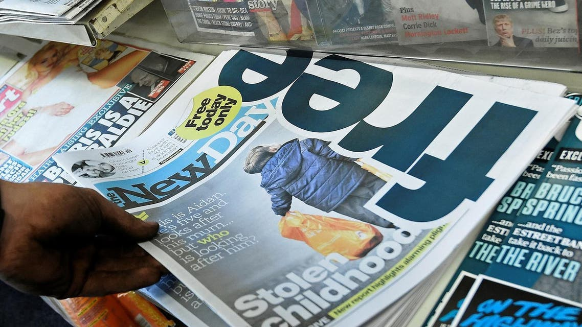 The newspaper — the first title to launch in Britain in 30 years — had been seen as a counter to the trend of declining newspaper sales in an online world. (Reuters)