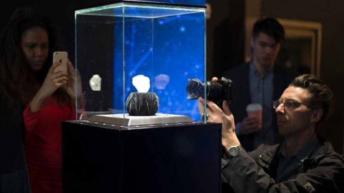 A 1,109-carat rough Lesedi La Rona diamond valued at more than $70 million will be auctioned in London. (AFP)