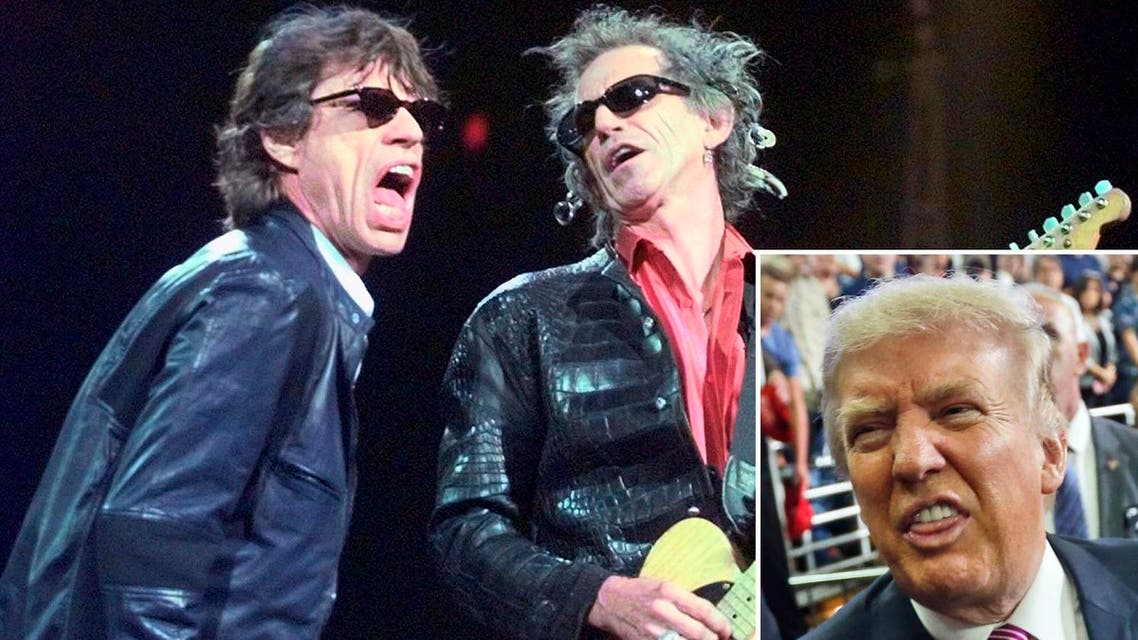 Trump has frequently used hits by The Rolling Stone's to fire up supporters at campaign events, but the band have joined a growing number of musicians who have expressed anger at his use of their music. (AP)