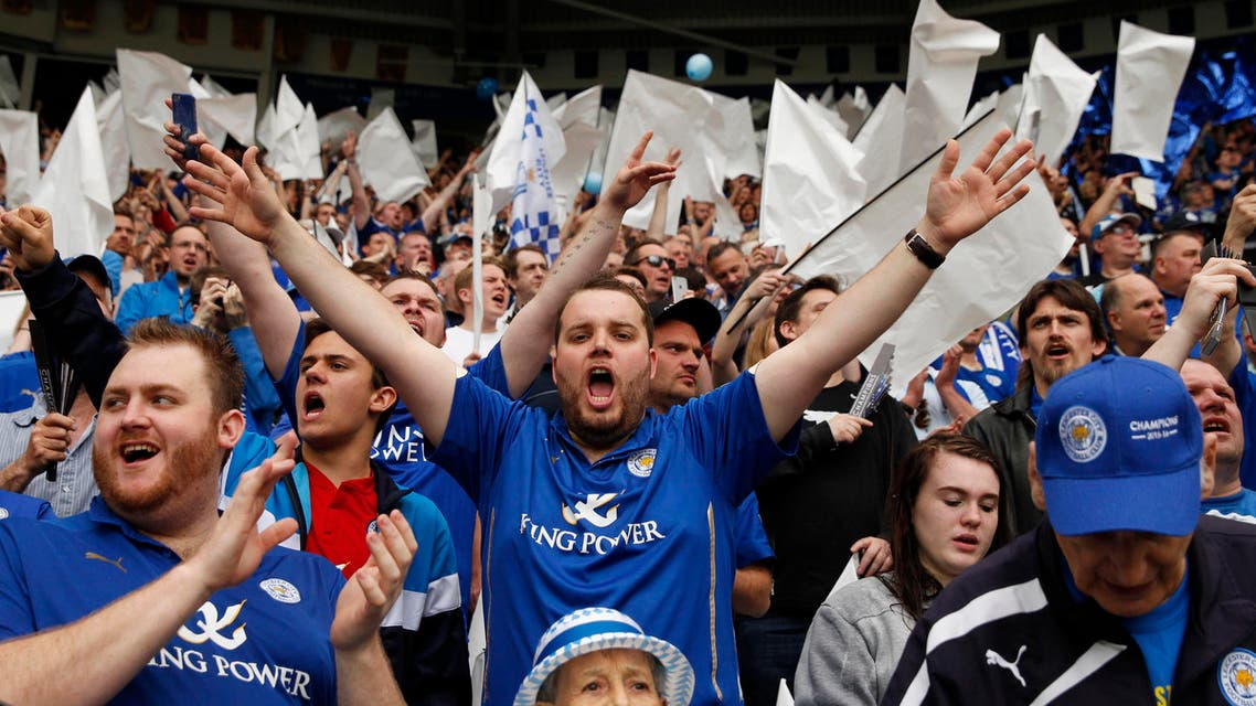 Thousands of supporters started gathering outside Leicester's King Power Stadium more than four hours before Saturday's final home game