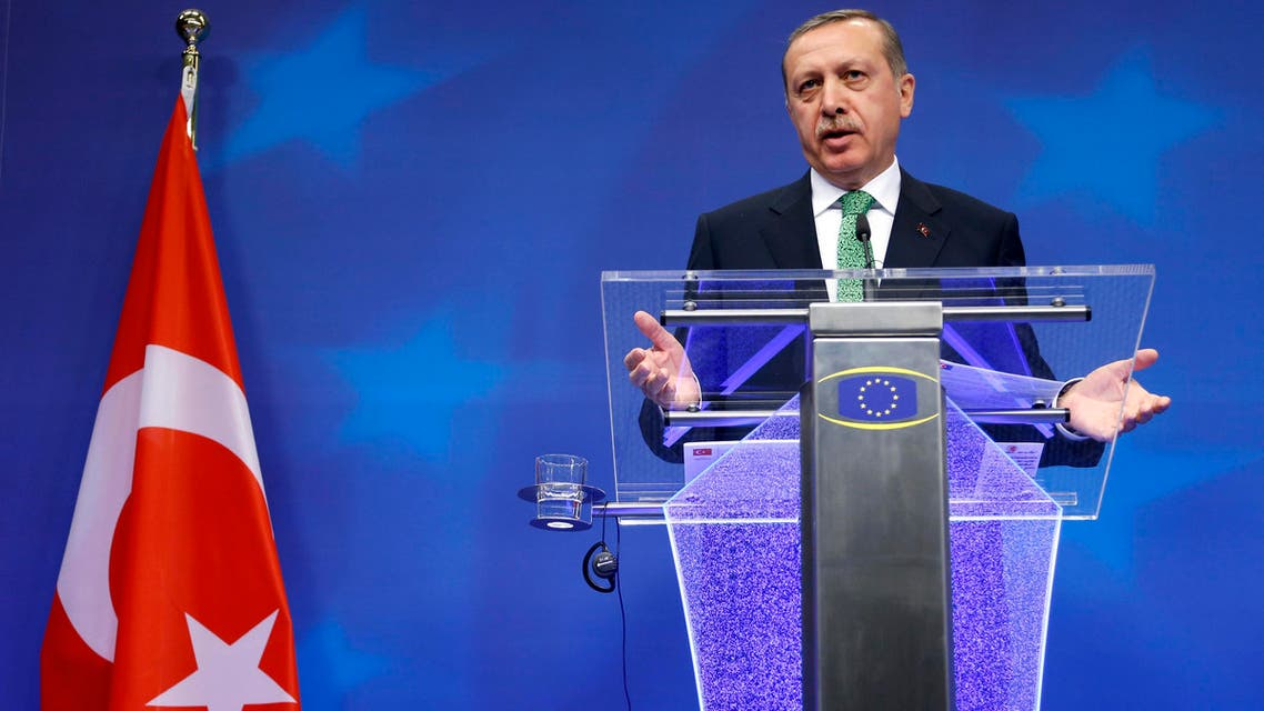 Turkey's Prime Minister Tayyip Erdogan addresses a news conference after meeting European Council President. (File photo: Reuters)