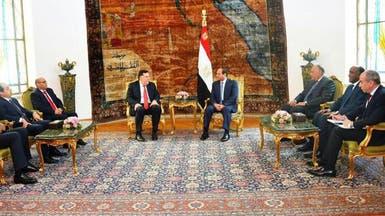 السيسي يؤكد للسراج دعم مصر لحكومة الوفاق الوطني الليبية