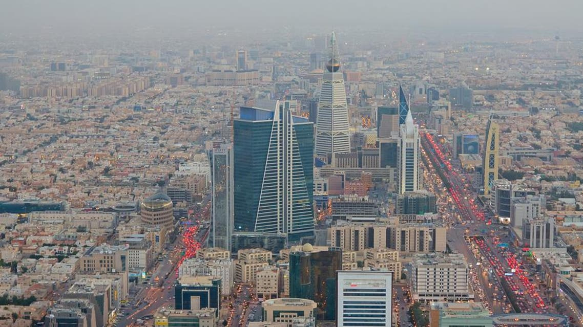 Aerial view of the capital Riyadh's downtown district, Saudi Arabia.  (Shutterstock)