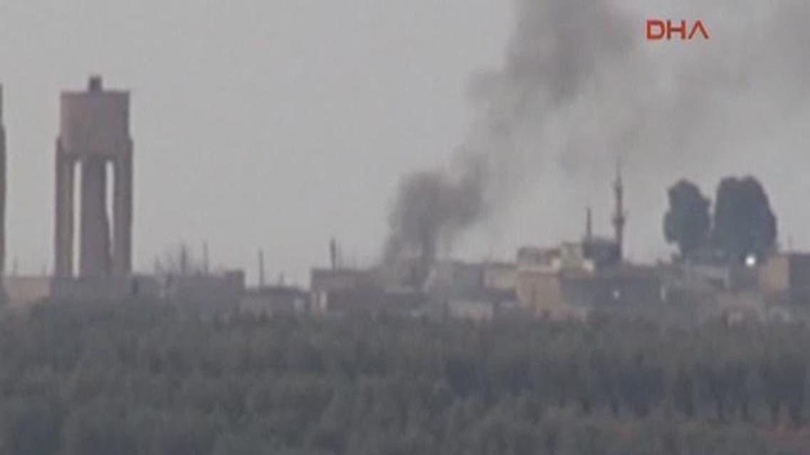 THUMBNAIL_ الجيش التركي يقصف مواقع داعش شمال حلب ويقتل العشرات من عناصره