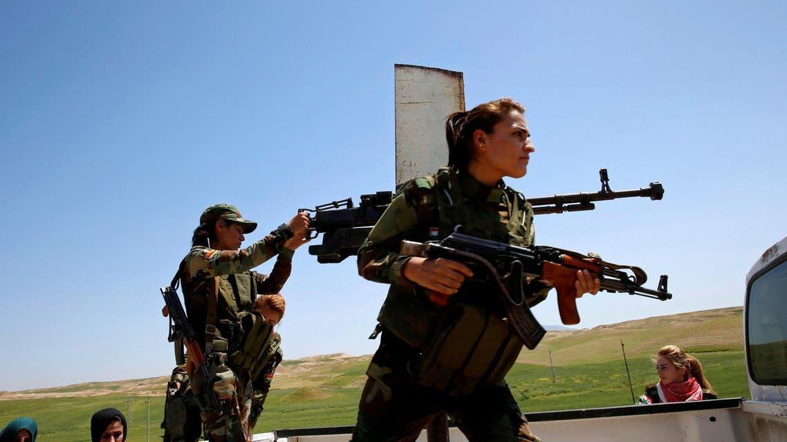 Yazidi women fight ISIS