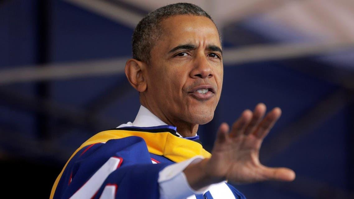 """Racism persists. Inequality persists,"" Obama told graduating students at Washington's Howard University. (Reuters)"