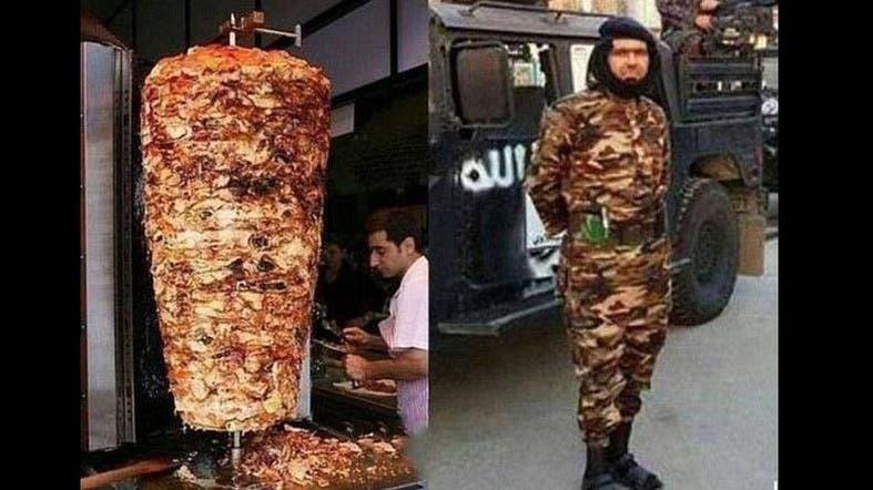 http://english.alarabiya.net/en/variety/2015/03/18/ISIS-commander-mocked-online-for-doner-kebab-outfit.html