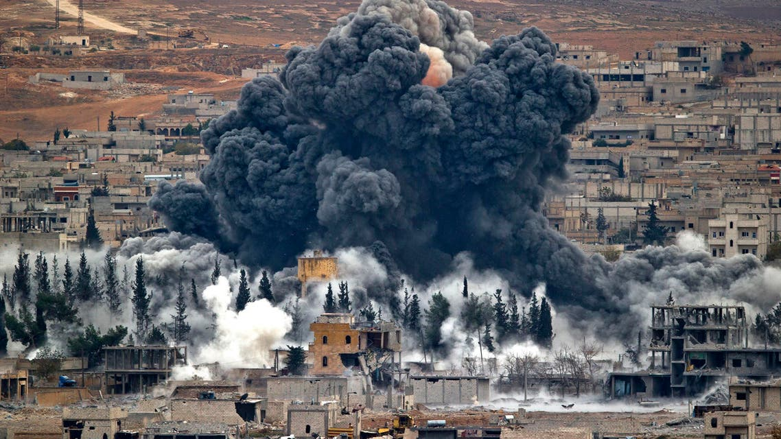Smoke rises from the Syrian city of Kobani, following an airstrike by the US led coalition. (File photo: AP)