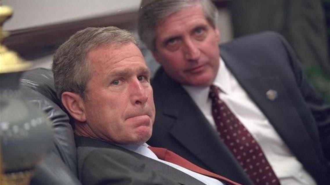 Rare photos show anxious Bush as 9/11 attacks took place