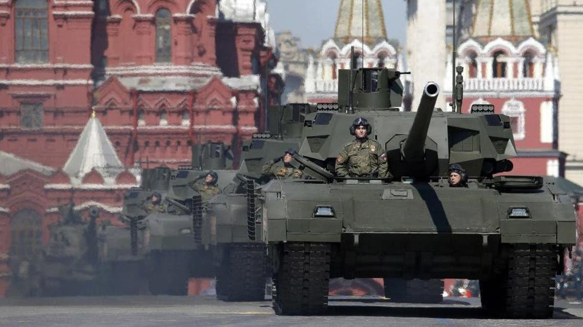 Russia rolled out an air defense missile system as it showcased its military war machine on Moscow's Red Square