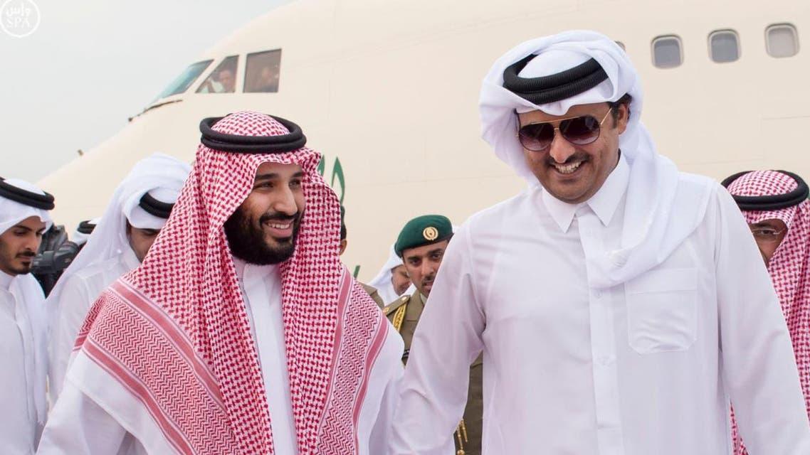 الشيخ تميم الأمير محمد بن سلمان