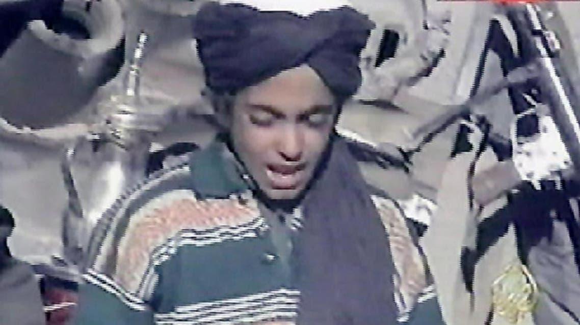 Hamza bin Laden (pictured in 2001), son of Al-Qaeda's late founder Osama bin Laden, has urged jihadists in Syria