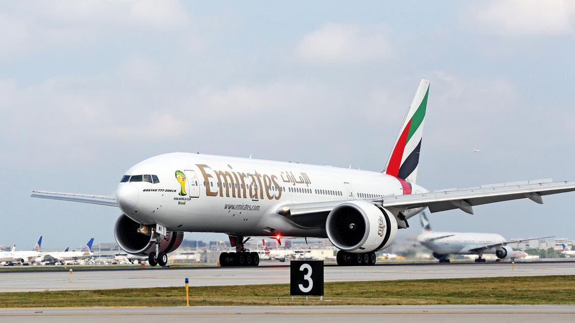 Dubai-based Emirates airline said on Tuesday its profit surged by 56 percent last year to $1.9 billion. (AP)
