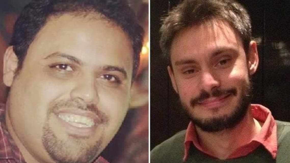 A Cairo court extended the pre-trial detention of Ahmad Abdullah (L), legal advisor to Giulio Regeni's (R) family, for 15 days. (April 6/Facebook)