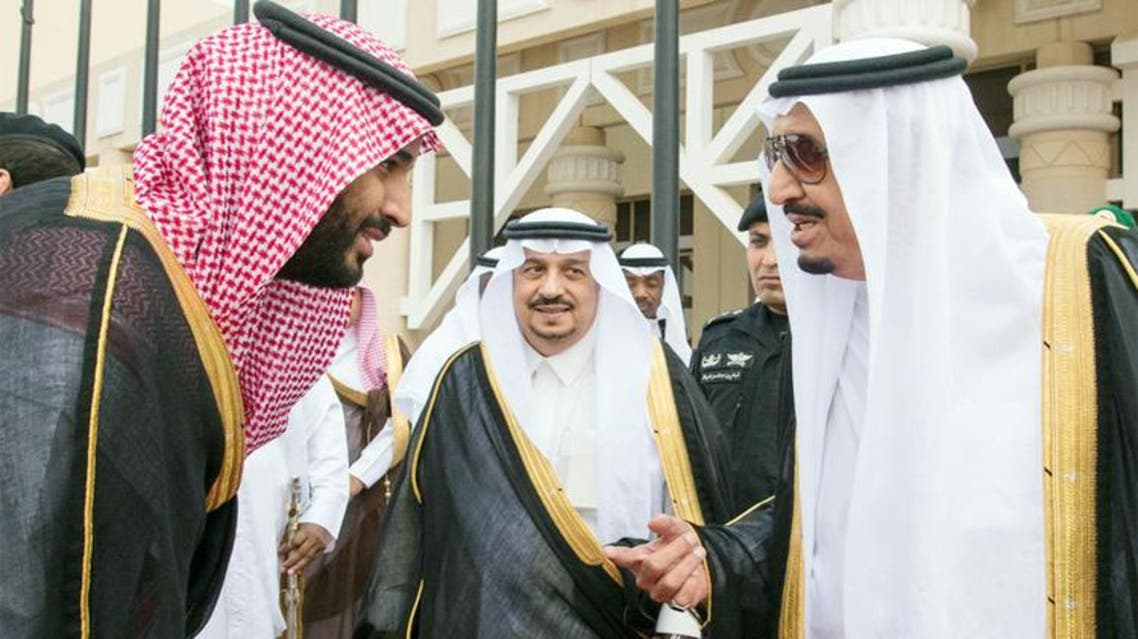 Custodian of the Two Holy Mosques King Salman being seen off at Riyadh airport on his way to Jeddah on Monday. — SPA