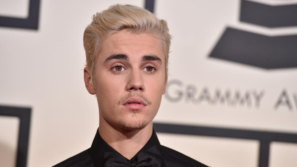 Justin Bieber at the 58th Annual Grammy Awards. (AP)