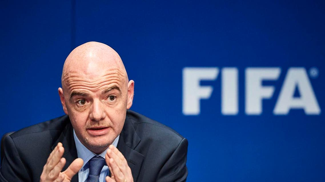FIFA President Gianni Infantino at a press conference following a FIFA executive meeting on March 18, 2016 in Zurich. (AFP)