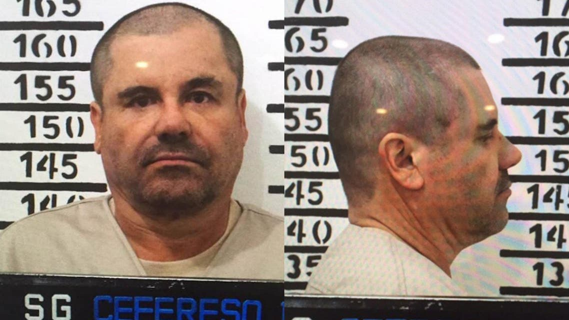 """The official booking photo taken on January 8 of Joaquín """"El Chapo"""" Guzmán. (Mexico's federal government)"""