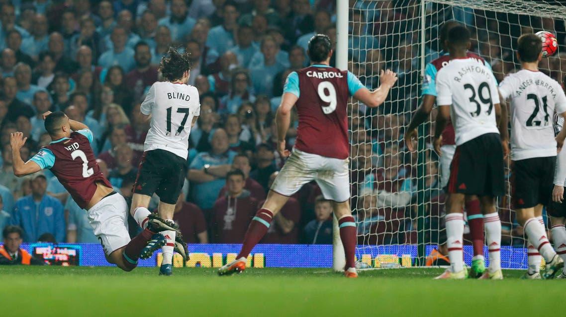Winston Reid scores the third goal for West Ham