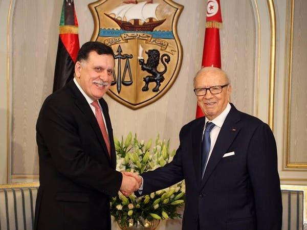 السراج عند السبسي وتونس تضع كل ثقلها لدعم حكومة الوفاق