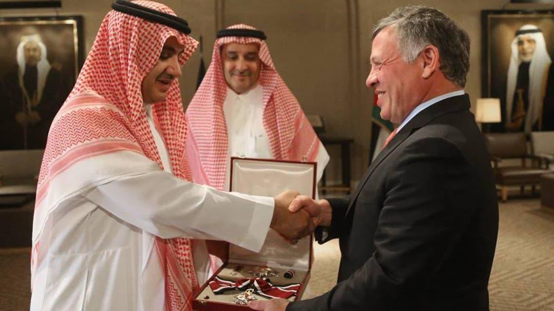 العاهل الأردني والشيخ وليد ال ابراهيم