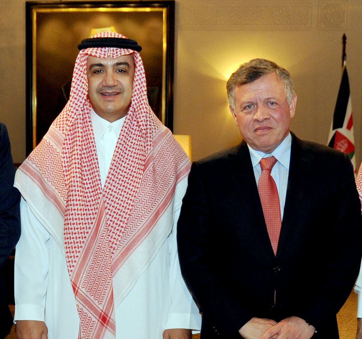 الملك عبد الله الثاني مع الشيخ وليد آل ابراهيم
