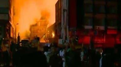 مصر.. السيطرة على حريق كبير في مبنى محافظة القاهرة