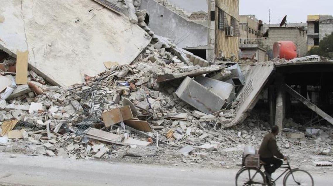 مبنى مدمر في بلدة داريا السورية - سوريا 3