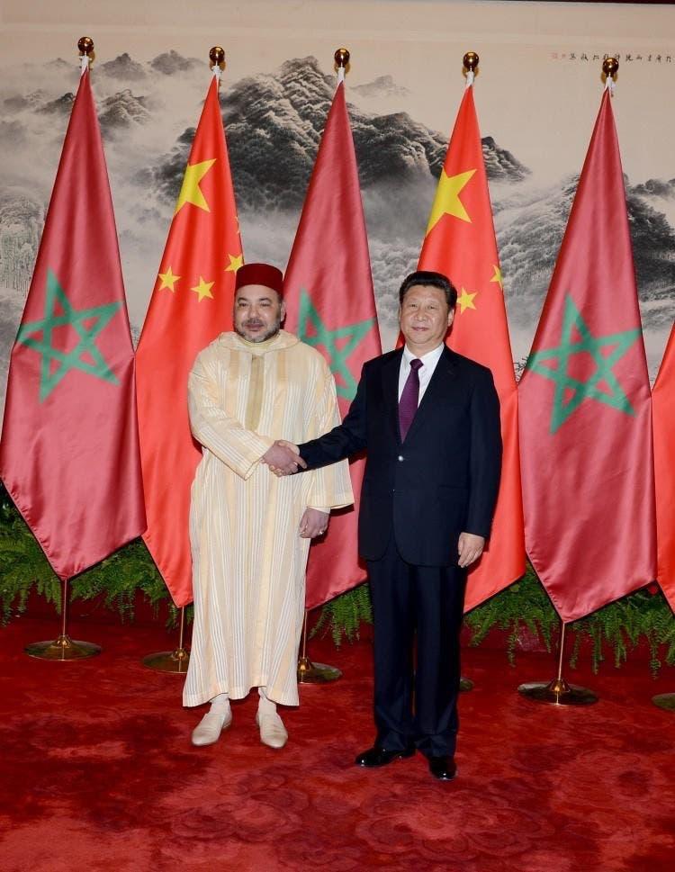 العاهل المغربي والرئيس الصيني في بكين
