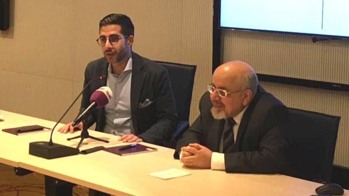 Druze expert Eyad Abu Shakra (R) in a discussion centering on the minority group, moderated by Al Arabiya English Editor-in-Chief Faisal J. Abbas. (Al Arabiya English)