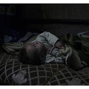 أمير طفل سوري لاجئ في لبنان يبلغ 20 شهراً