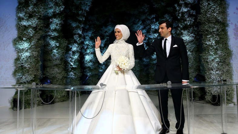 Sumeyye Erdogan Daughter Of Turkish President Tayyip And Her Husband Selcuk Bayraktar Are Seen During Their Wedding Ceremony In Istanbul