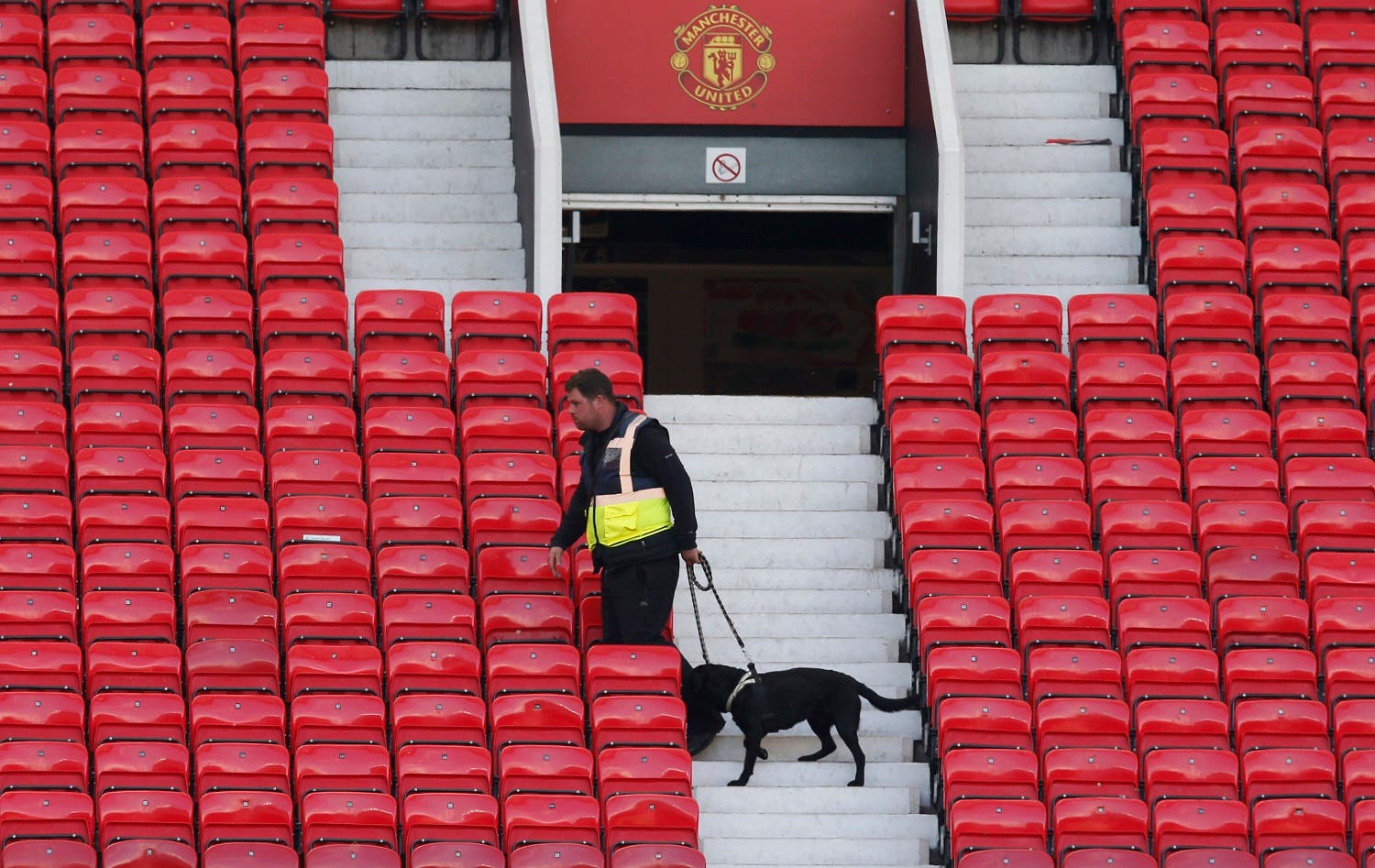 A police dog after the match was abandoned Reuters / Andrew Yates Livepic