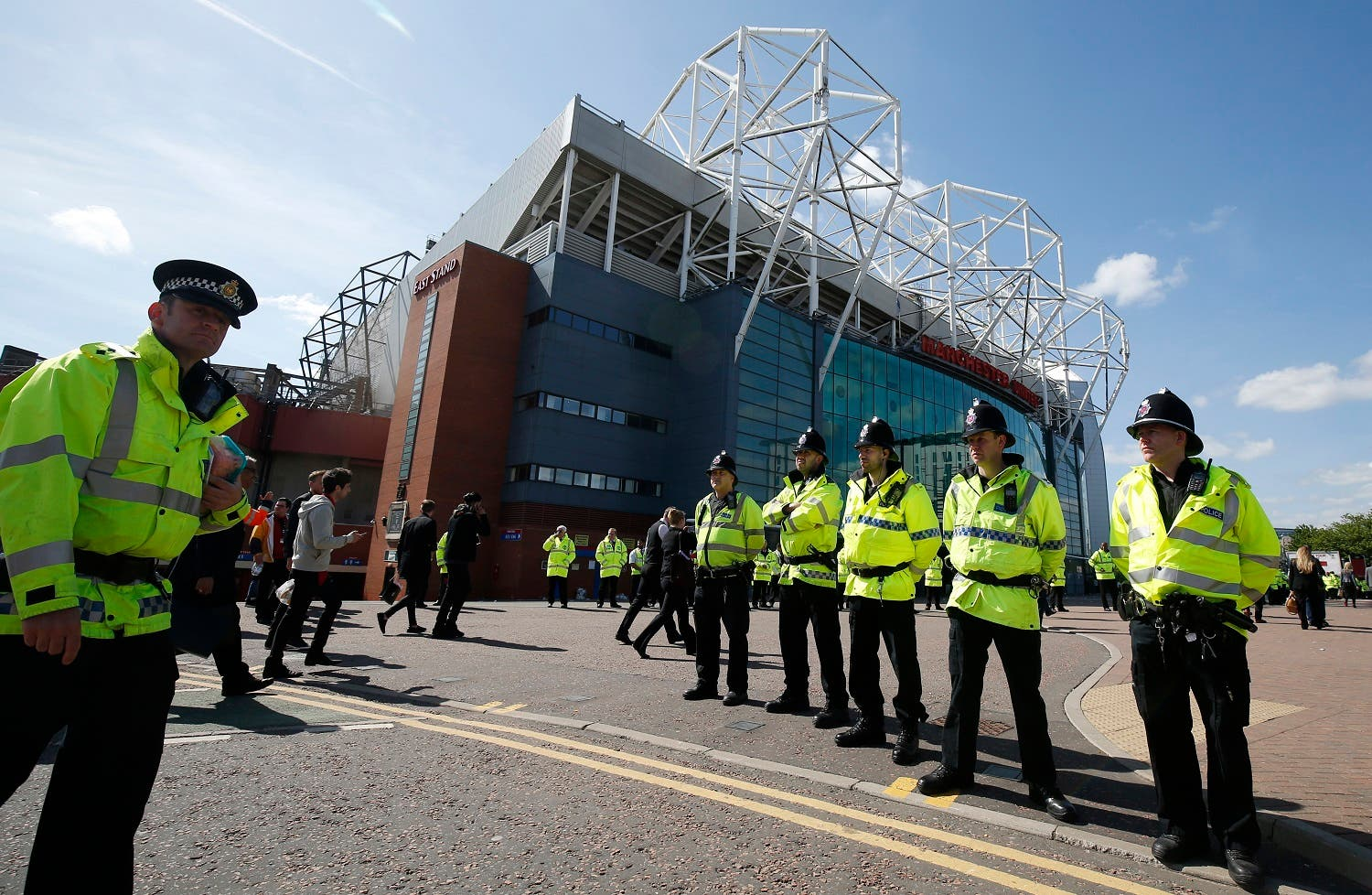General view of police outside the stadium after the match was abandoned Reuters / Andrew Yates Livepic