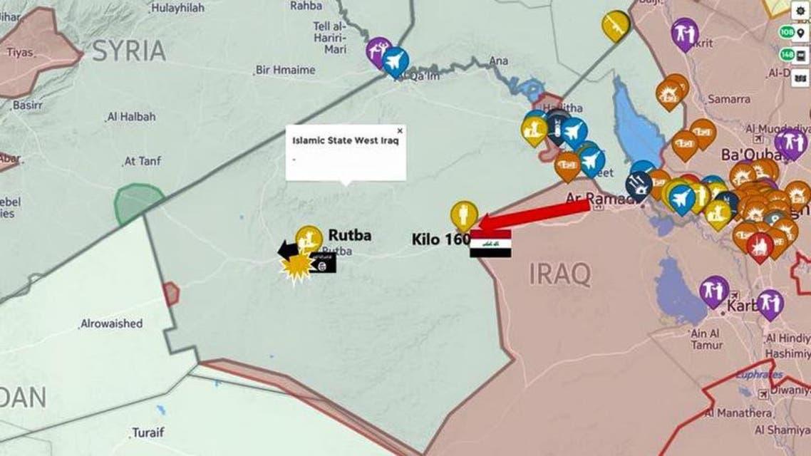 موقع الرطبة على خريطة العراق