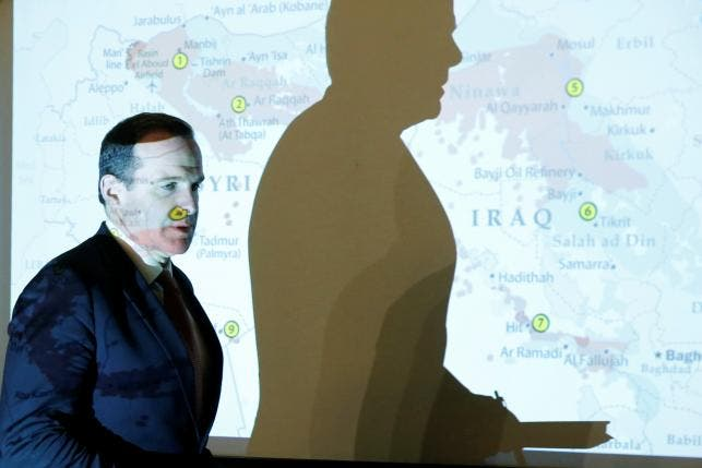 Brett McGurk, the United States' envoy to the coalition against Islamic State, arrives to attend his a news conference in Amman, Jordan, May 15, 2016. Reuters/Muhammad Hamed
