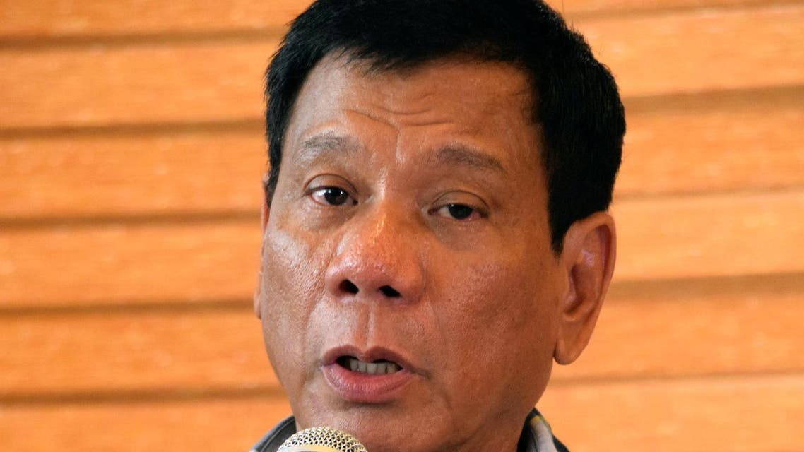 "President-elect Rodrigo ""Digong"" Duterte speaks during a news conference in his hometown Davao City in southern Philippines, May 16, 2016."