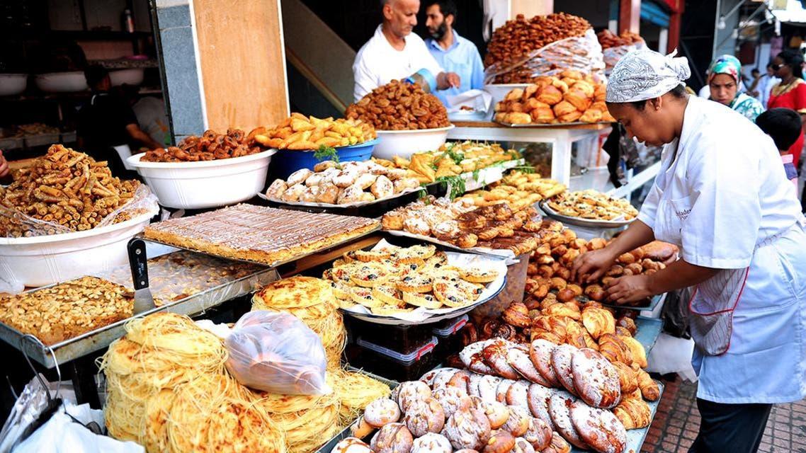 مشهد من أسواق شهر رمضان في المغرب