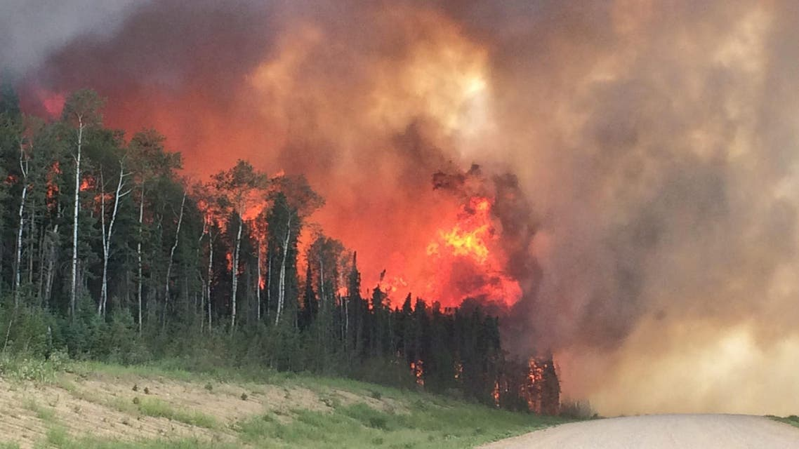 The wildfires have burned more than 2,840 square kilometers in the Fort McMurray area. (File photo: AP)