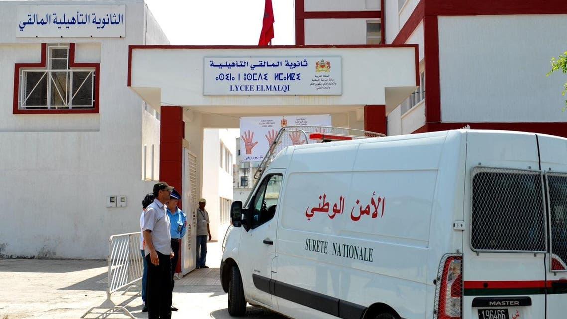 الشرطة المغربية تؤمن مقر ثانوية حكومية مغربية خلال العام الماضي في الرباط