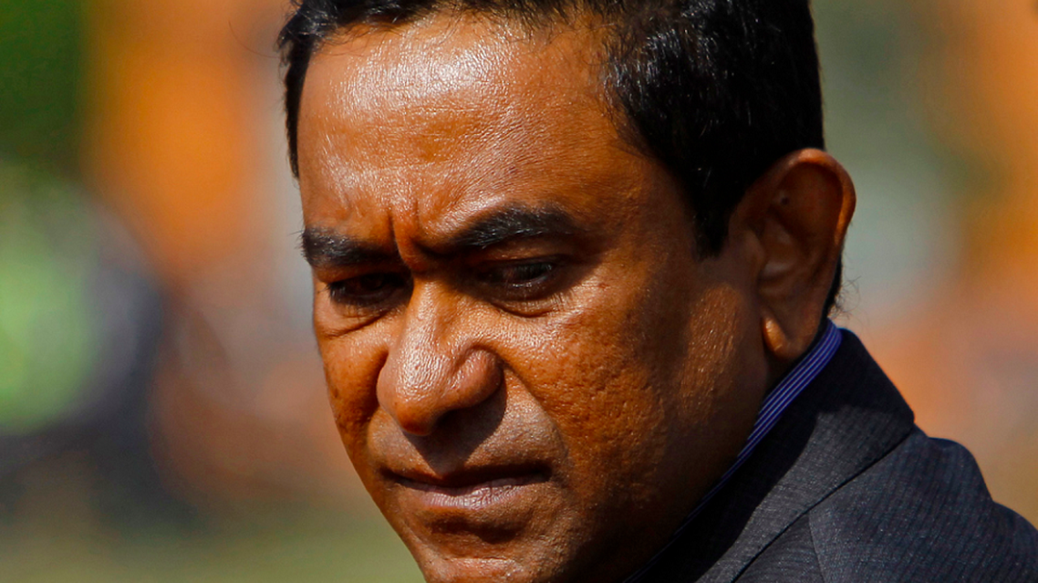 Maldives President Abdulla Yameen is pictured upon his arrival to take part in the 18th South Asian Association for Regional Cooperation (SAARC) summit in Kathmandu Reuters