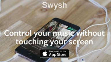 """Swysh"" للتحكم بالموسيقى على آيفون دون لمس الشاشة"