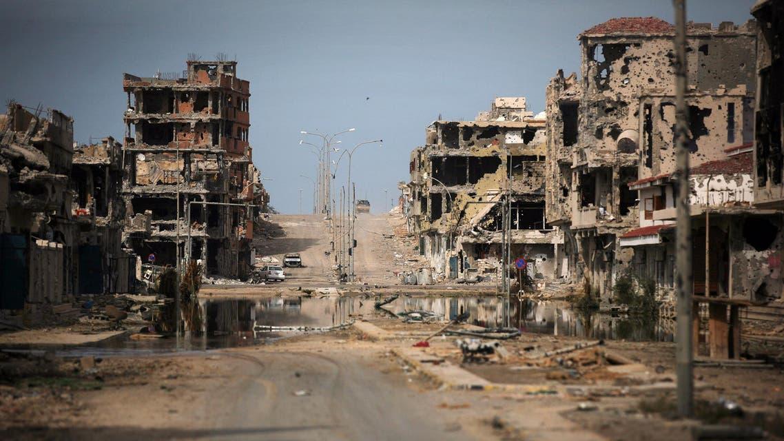 A general view of buildings ravaged by fighting in Sirte, Libya. (File photo: AP)