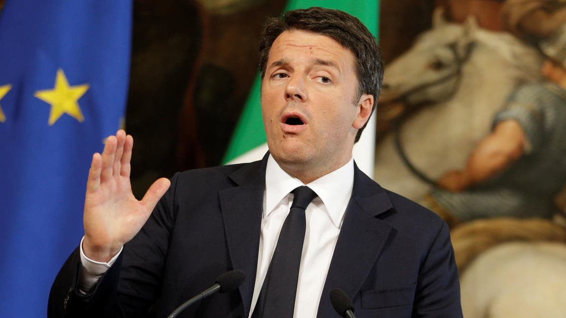 Italian Prime Minister Matteo Renzi talks during a news conference with Dutch Prime Minister Mark Rutte (not seen) at Chigi palace in Rome, Italy May 19, 2016. (Reuters)