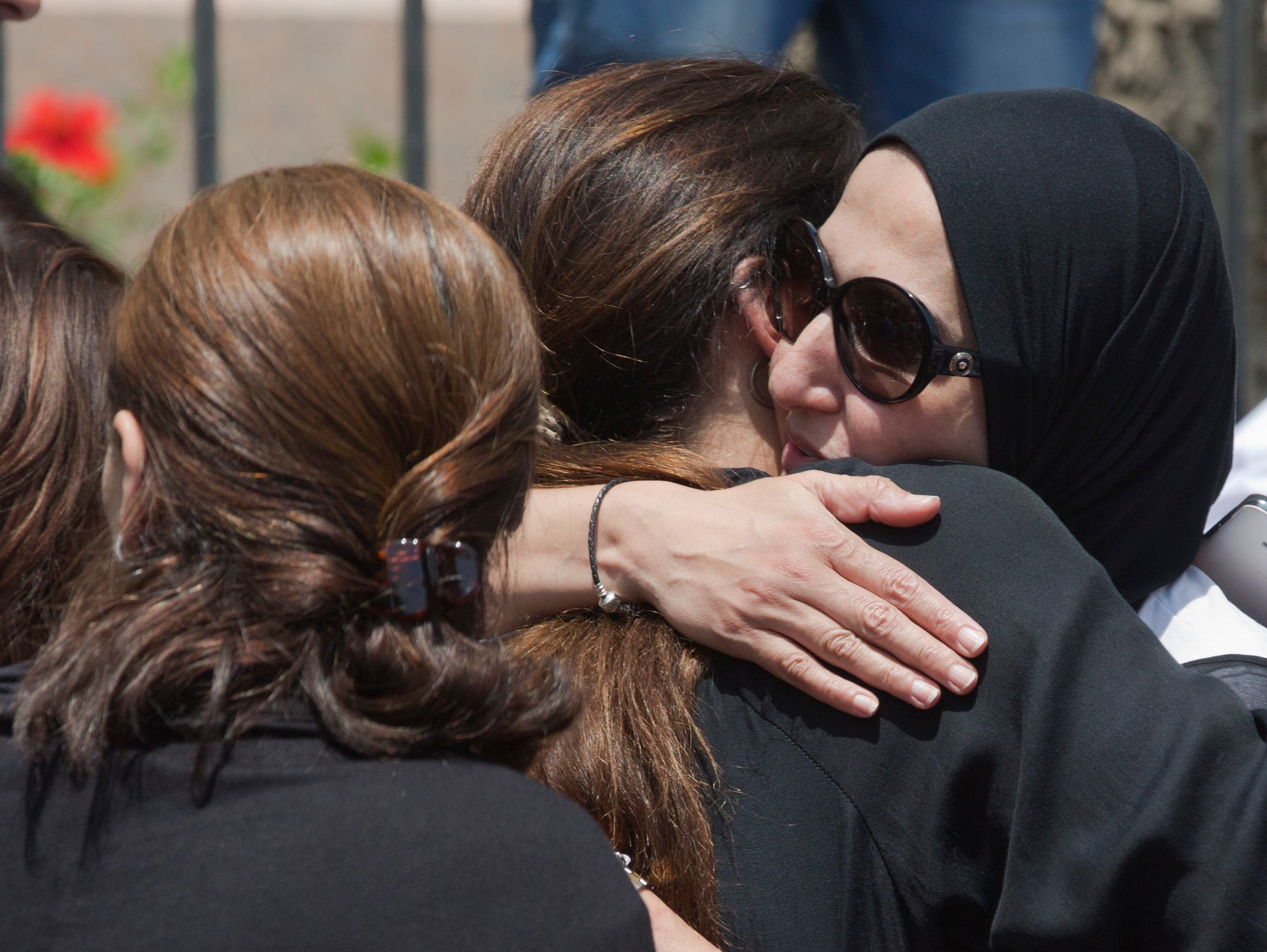Families weep over EgyptAir flight disappearance. (AP)