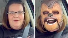 'I'm so happy!' Woman in Chewbacca mask shatters Facebook record