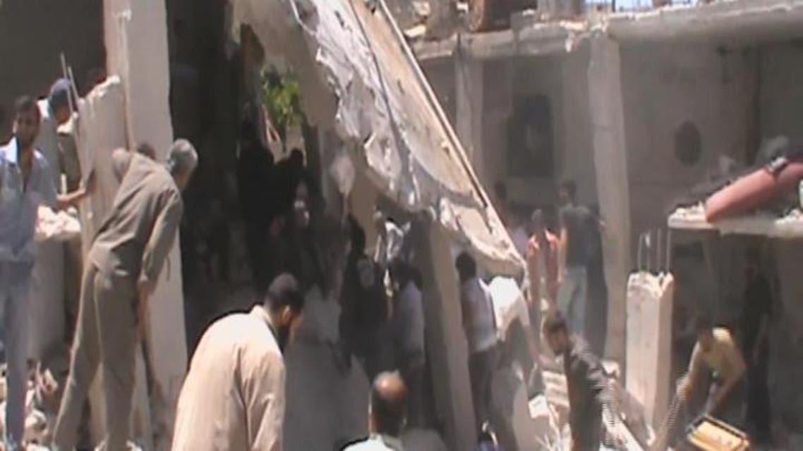 THUMBNAIL_ حملة النظام مستمرة على الرستن في ريف حمص